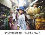youth culture travel holiday... | Shutterstock . vector #419537674