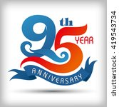 95th year anniversary design... | Shutterstock .eps vector #419543734