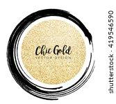 modern chic gold background... | Shutterstock .eps vector #419546590
