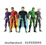 draw of superhero cartoon ... | Shutterstock .eps vector #419550094