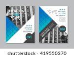 vector brochure flyer design... | Shutterstock .eps vector #419550370