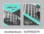vector brochure flyer design... | Shutterstock .eps vector #419550379