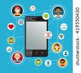 social media design. networking ... | Shutterstock .eps vector #419550430