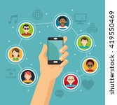 social media design. networking ...   Shutterstock .eps vector #419550469