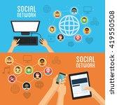 social media design. networking