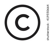 copyright icon  vector... | Shutterstock .eps vector #419550664