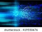 blue abstract hi speed internet ... | Shutterstock . vector #419550676