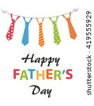 happy fathers day festive card... | Shutterstock .eps vector #419555929