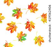 multicolored maple leaf.... | Shutterstock .eps vector #419562406