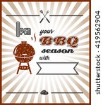 vector. open your bbq season... | Shutterstock .eps vector #419562904