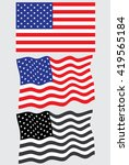 collection of american flags   Shutterstock .eps vector #419565184