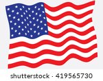 flag of the united states of... | Shutterstock .eps vector #419565730