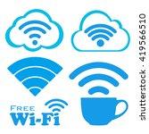 internet cafe free wifi icons...