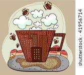 coffee city vector   Shutterstock .eps vector #41956714