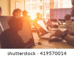 blurred image of business... | Shutterstock . vector #419570014