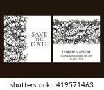vintage delicate invitation... | Shutterstock . vector #419571463