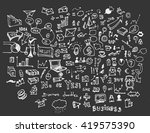 hand drawn business icons set....   Shutterstock .eps vector #419575390