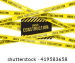under construction background... | Shutterstock .eps vector #419583658