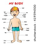 "my body""  educational info...   Shutterstock .eps vector #419594500"