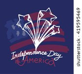 happy independence day of... | Shutterstock .eps vector #419595469