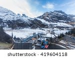 holiday in switzerland  foggy... | Shutterstock . vector #419604118