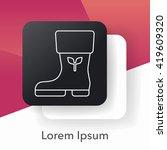 rain boots line icon   Shutterstock .eps vector #419609320