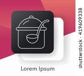 pot line icon | Shutterstock .eps vector #419609338