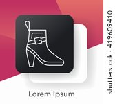 shoes line icon | Shutterstock .eps vector #419609410