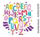 bright abc for kids. | Shutterstock .eps vector #419614249