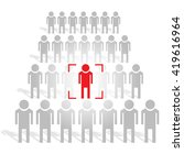 people search industry. human... | Shutterstock .eps vector #419616964