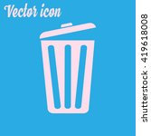trash can icon  vector eps10... | Shutterstock .eps vector #419618008