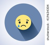emoticon. flat character icon.... | Shutterstock .eps vector #419634304