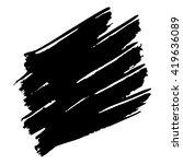 vector set of grunge brush... | Shutterstock .eps vector #419636089