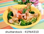 chicken drumstick in vegetables ... | Shutterstock . vector #41964310