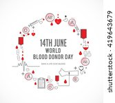 vector illustration of donate... | Shutterstock .eps vector #419643679