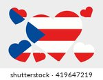 a 3d isometric flag... | Shutterstock . vector #419647219