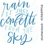 rain is just confetti from the... | Shutterstock .eps vector #419649916