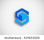 combination of letter s.... | Shutterstock .eps vector #419651020