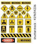 set of warning signs about the...   Shutterstock .eps vector #419654236
