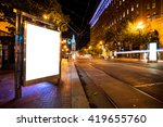 blank billboard on road with... | Shutterstock . vector #419655760