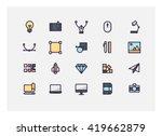 graphic design icon set vector.   Shutterstock .eps vector #419662879