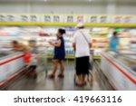 blur of buyer choosing product... | Shutterstock . vector #419663116