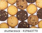 handmade assorted cookies  ... | Shutterstock . vector #419663770