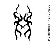 tattoo. stencil. pattern.... | Shutterstock .eps vector #419664190
