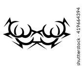 tattoo. stencil. pattern.... | Shutterstock .eps vector #419664394