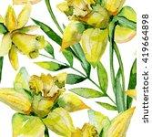 seamless watercolor... | Shutterstock . vector #419664898