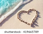 Heart Symbol On A Sand Of Beac...