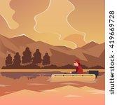 fishing banner. fishing concept.... | Shutterstock .eps vector #419669728