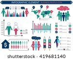 collection of infographic... | Shutterstock .eps vector #419681140