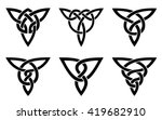 celtic knot set | Shutterstock .eps vector #419682910